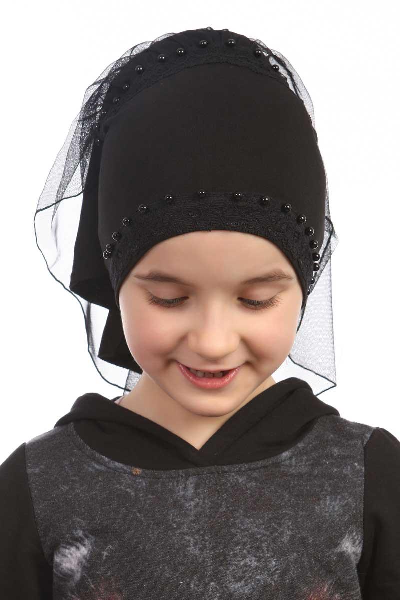 Çocuk Bone İncili Model Siyah