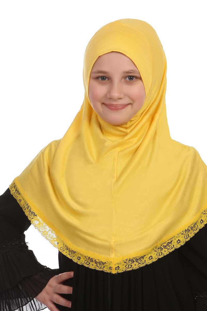 Çocuk Bone Pratik Eşarp Sarı