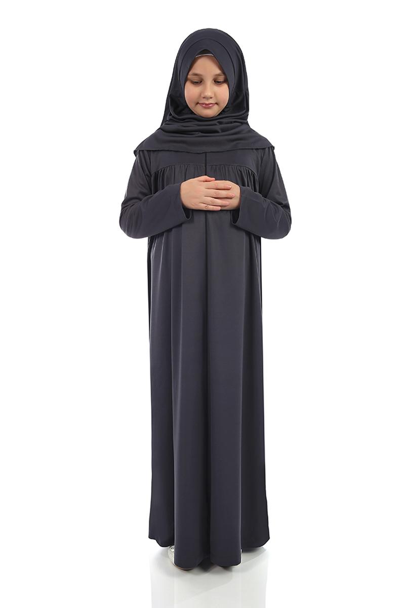 Çocuk Namaz Elbisesi Gri