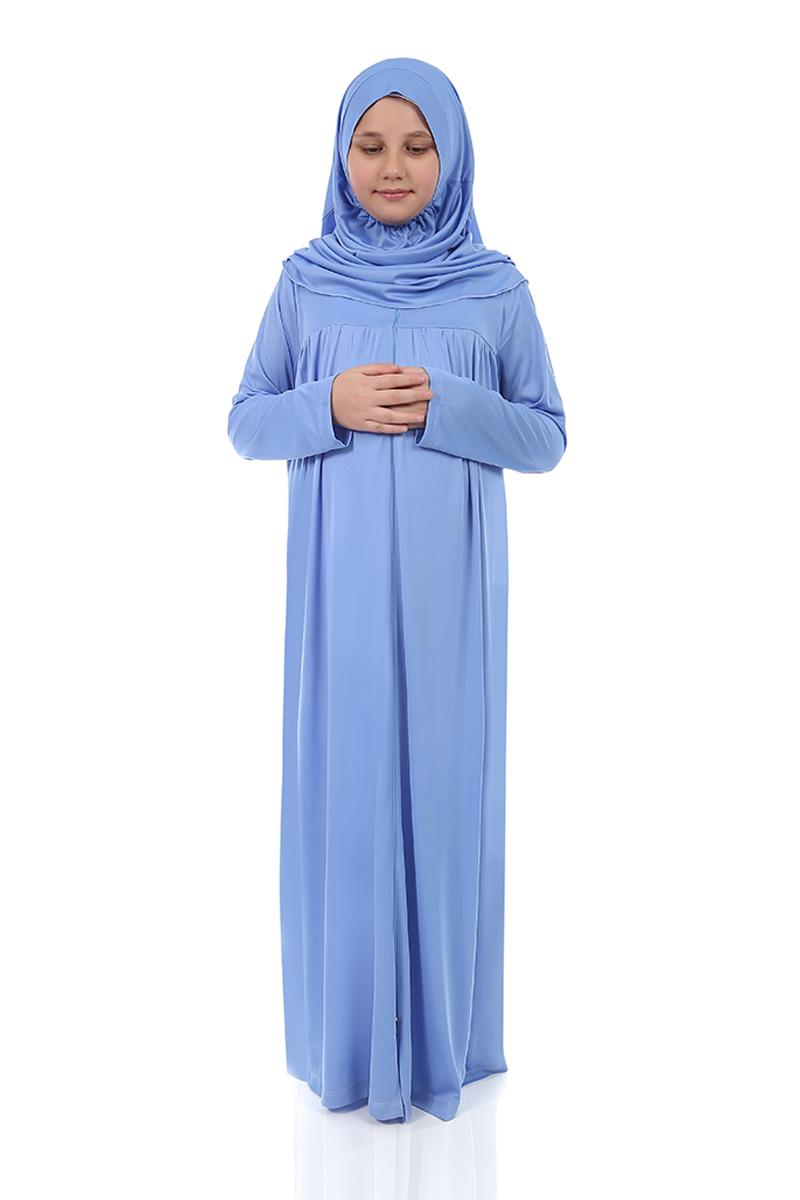 Çocuk Namaz Elbisesi Mavi