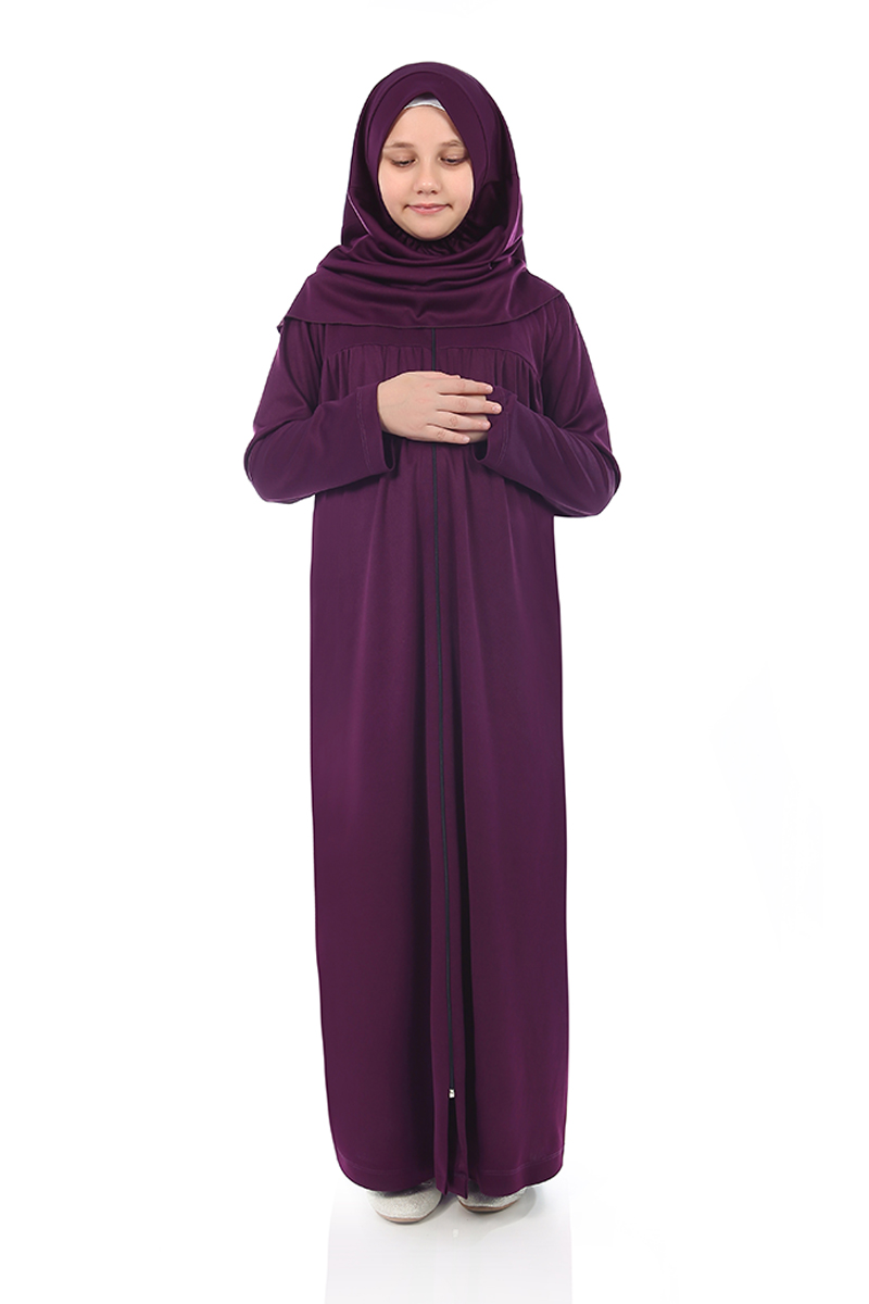 Çocuk Namaz Elbisesi Mor 2