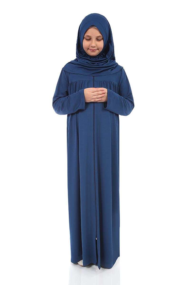 Çocuk Namaz Elbisesi Petrol Mavi