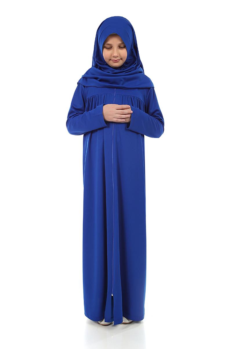 Çocuk Namaz Elbisesi Saks Mavi