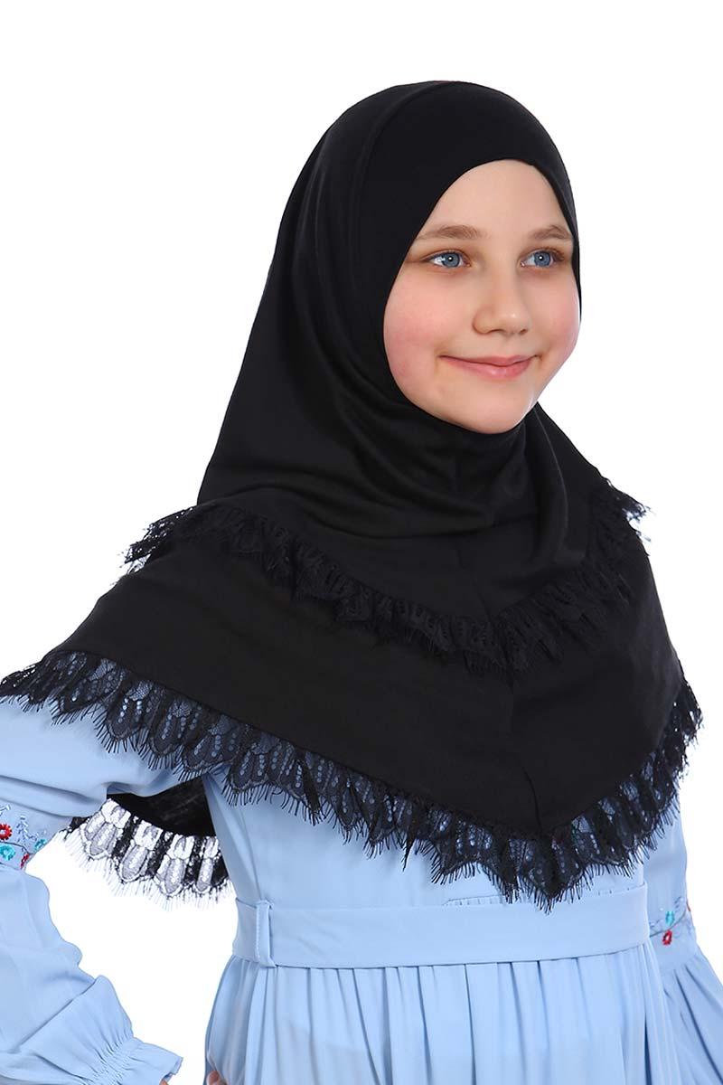 Çocuk Pratik Eşarp Aleyna Model Siyah