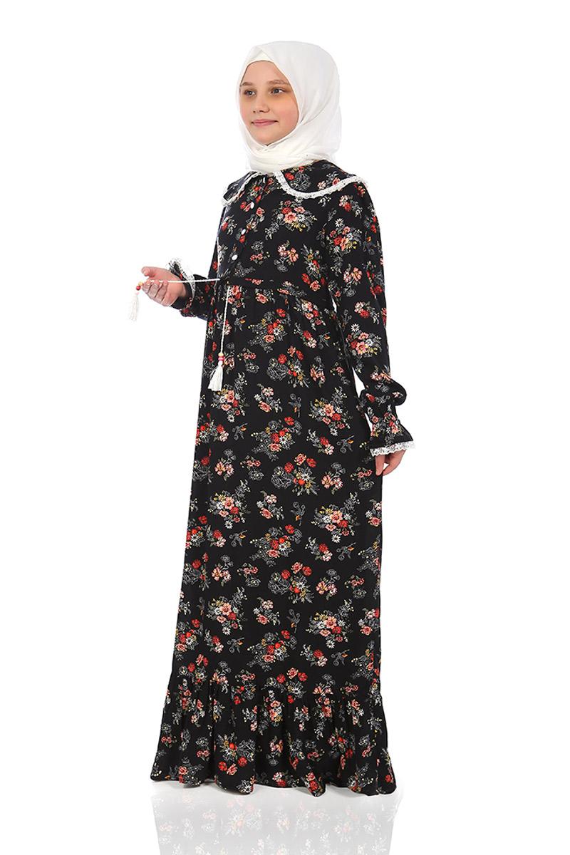 Çocuk Tesettür Elbise Rana Model