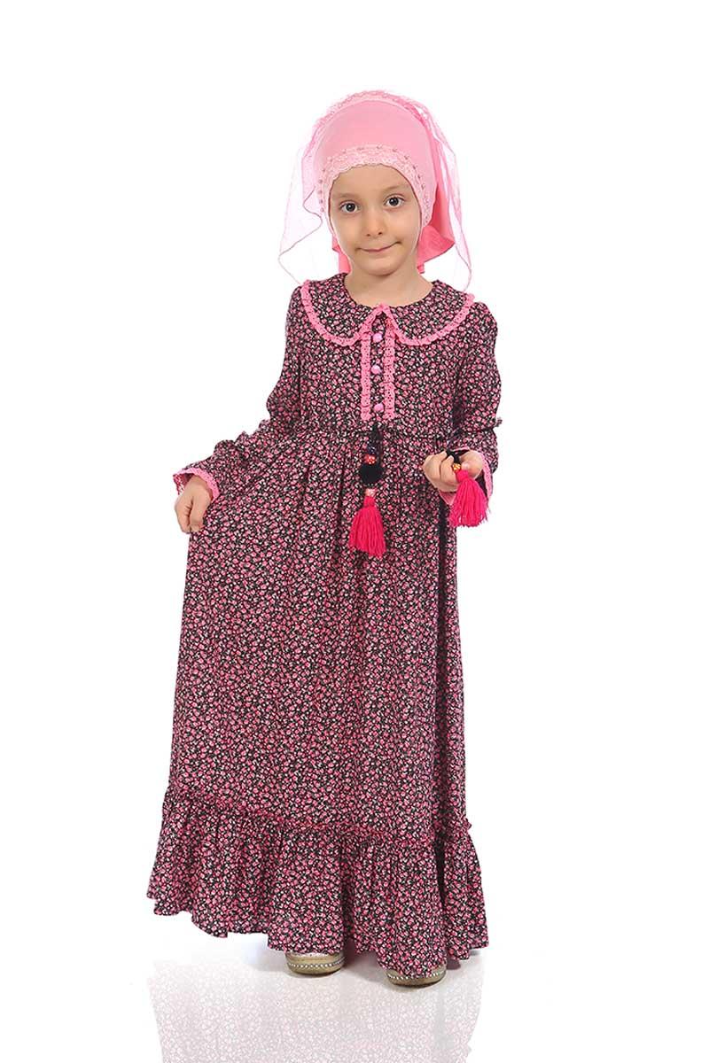 Çocuk Tesettür Zeynep Model Pembe