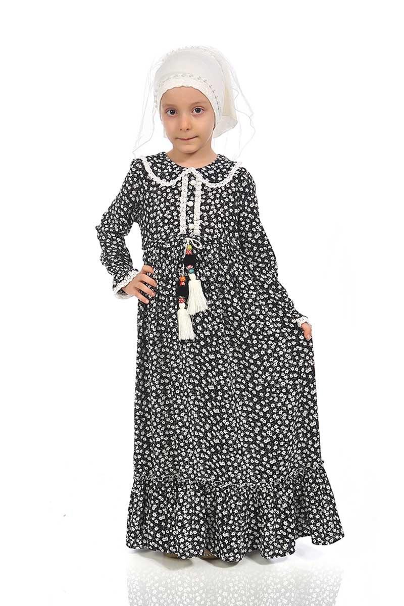 Çocuk Tesettür Zeynep Model Siyah